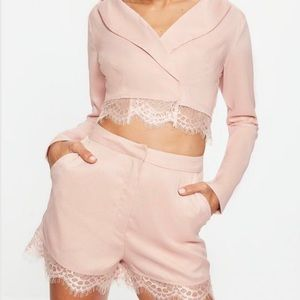 Missguided Cropped Blazer and Shorts Set [NWT]